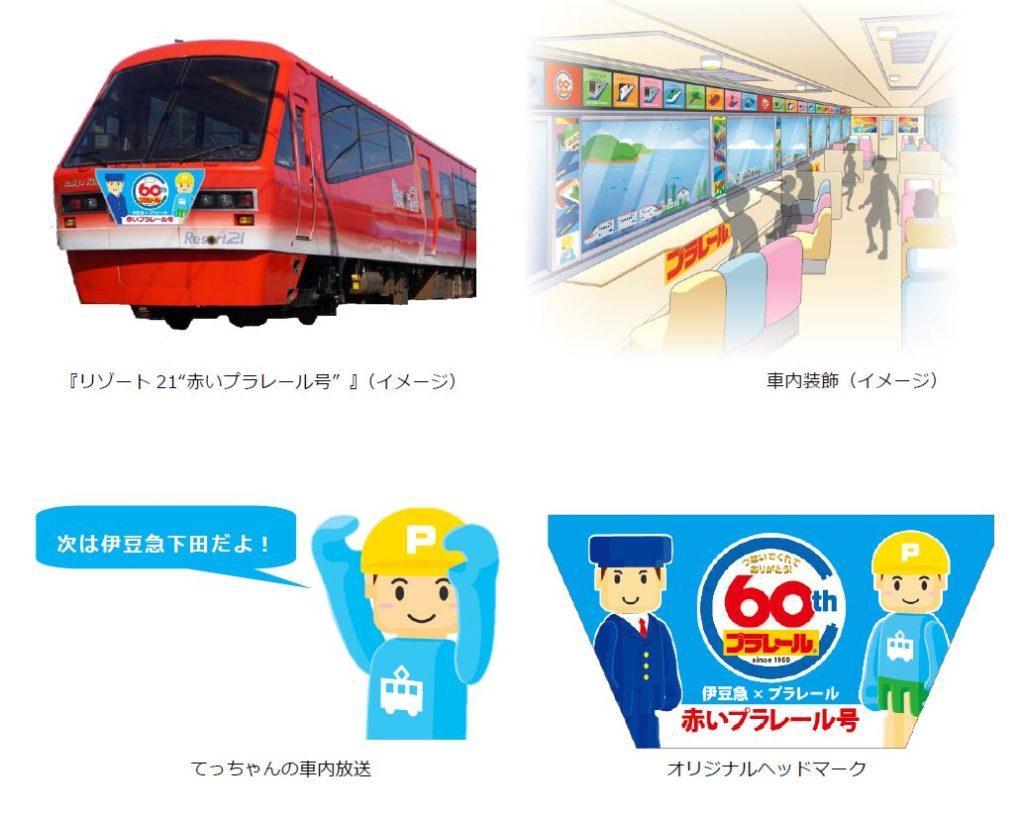 伊豆急行 リゾート21 赤いプラレール号